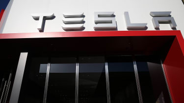 A Tesla showroom in California
