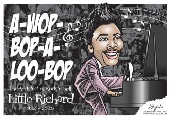 Editorial Cartoon U.S. Little Richard rock and roll RIP