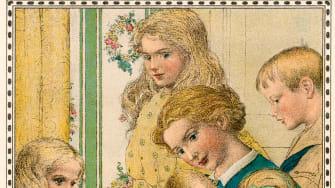 A vintage motherhood illustration.
