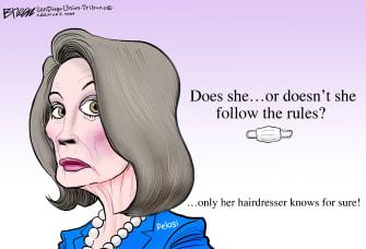 Political Cartoon U.S. Nancy Pelosisalon