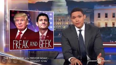Trevor Noah explains why you cannot throw Donald Trump under the bus