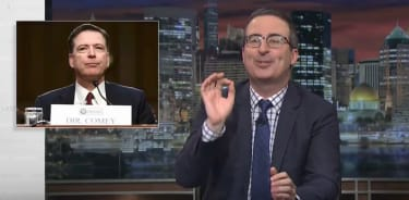 John Oliver talks about Comey