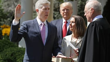 Neil Gorsuch is sworn in as Supreme Court Justice