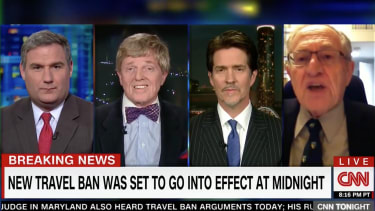 A CNN panel devolved into shouting over President Trump's travel ban.