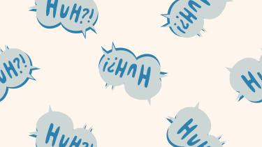 """Huh?"" illustration."