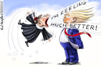 Political Cartoon U.S. Ruth Bader Ginsburg Trump