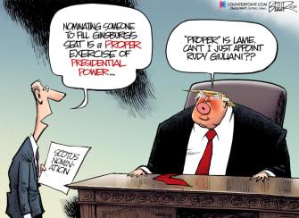 Political Cartoon U.S. SCOTUS Giuliani