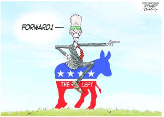 Political Cartoon U.S. Biden democrats