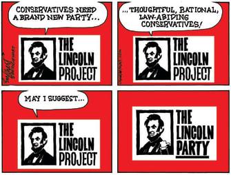 PoliticalCartoon U.S. GOP conservatives lincoln project