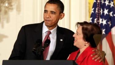 Justice Elena Kagan and President Obama