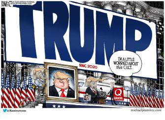 Political Cartoon U.S. Trump qanon cult