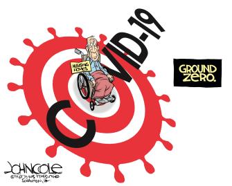 Editorial Cartoon U.S. ground zero of coronavirus war nursing homes most vulnerable