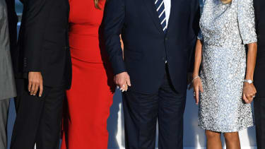 The Trumps and Justin Trudeau at G7 photo session