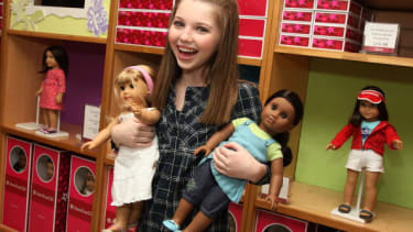 Actress Sammi Hanratty at the New York City American Girl store in 2009.