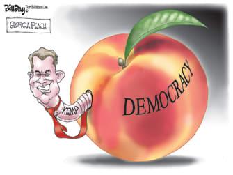 Political Cartoon U.S. georgia voters brian kemp