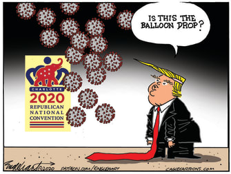 Political Cartoon U.S. Trump RNC covid