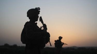 Troops in Herati, Afghanistan