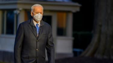 Biden leaves the White House