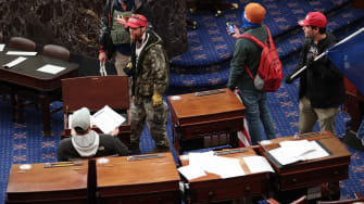 Insurgents in the House chamber
