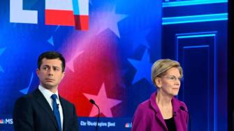 Pete Buttigieg, Elizabeth Warren, Joe Biden.