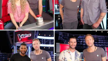 Coldplay frontman Chris Martin looks so thrilled to join The Voice