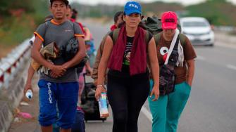 Venezuelan migrants.