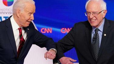 Former Vice President Joe Biden and Sen. Bernie Sanders.