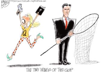 Political Cartoon U.S. gop right wing romney