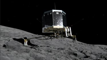 A spacecraft will try to land on a comet tomorrow