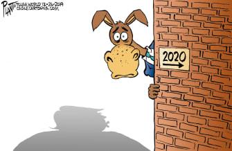 Political Cartoon U.S. Democrats Trump 2020
