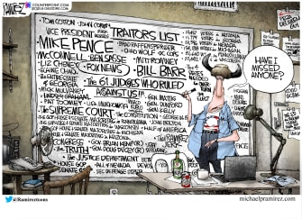 Political Cartoon U.S. GOP Qanon
