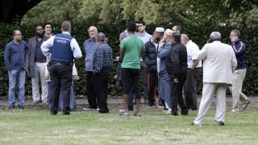 Witnesses to a shooting at a mosque in Christchurch on Friday.