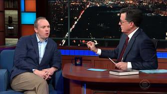 Cliff Sims talks to Stephen Colbert