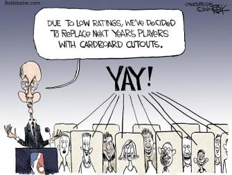 Editorial Cartoon U.S. NBA Adam Silver