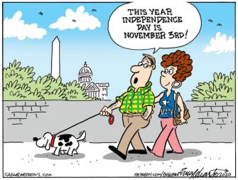 Editorial Cartoon U.S. Independence Day November 3 2020 vote