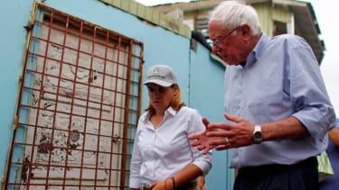 Mayor Cruz and Bernie Sanders.