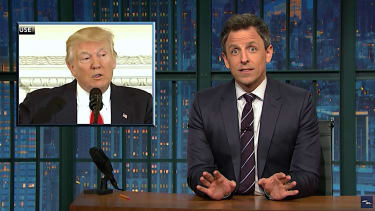 Seth Meyers tries to preview Trump speech before Congress
