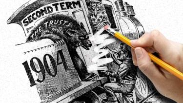 A cartoon being erased.