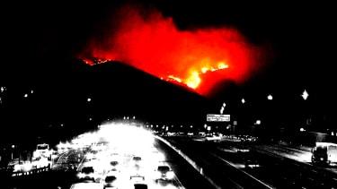 A fire in California.