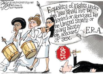 Political Cartoon U.S. Equal Rights Amendment Alexandria Ocasio-Cortez