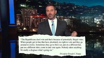 Jimmy Kimmel mocks Trump voter fraud conspiracy theory
