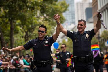 California police officers in love