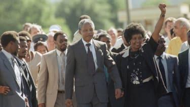 Mandela walks
