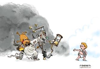 Editorial Cartoon U.S. New Years Day 2020 Terrible Year 2021