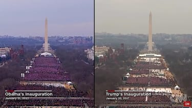 CNN shows 2013 and 2017 inauguration crowds
