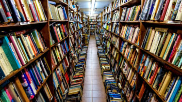 The inside of a bookstore.