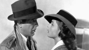 Humphrey Bogart and Ingrid Bergman in a scene from the 1943 classic Casablanca.