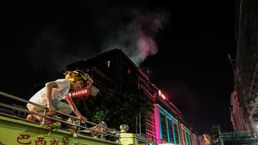 A fire ravages a casino in Manila