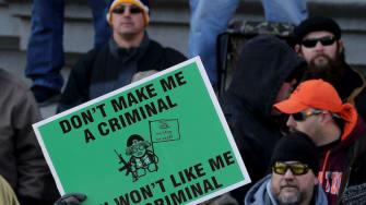 Pro-gun protesters.