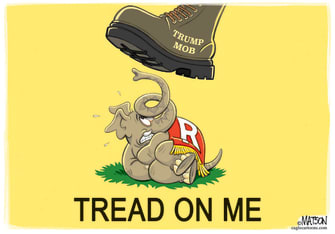 Political Cartoon U.S. Trump capitol mob riot